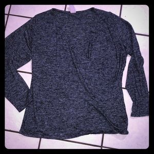 H&M cross front blouse 2x